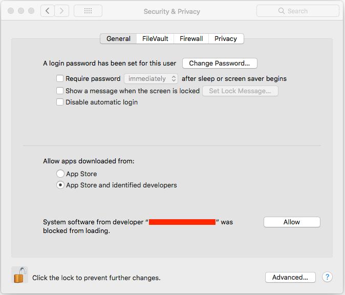 macOS High Sierra 10 13/Mojave 10 14 Driver Installation Change
