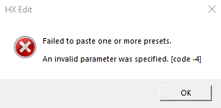 screenshot of error message trying to paste a preset  or new preset into a preset that was corrupt even if name of corrupt preset has been saved as blank.png